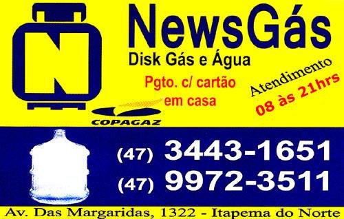 News Gás - Disk Gás e Água em Itapoá.